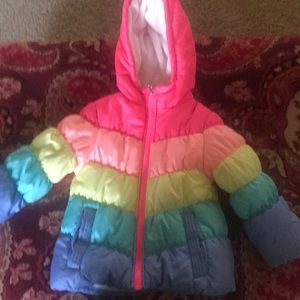 OshKosh B'Gosh 4T rainbow winter coat
